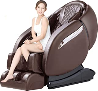 Massage Chair Recliner, Zero Gravity SL-Track, Full Body Shiatsu Electric Massage Chair with Stretching, Tapping, Heating Back and Foot Massagers Space Capsule (Brown)