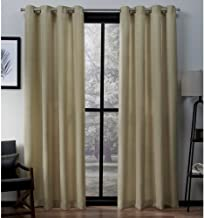 Exclusive Home Virenze Faux Silk Window Curtain Panel Pair with Grommet Top 54x96 Mello Yellow 2 Piece