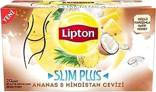 Lipton Slim Plus Hindistan Cevizi Bardak Poşet Bitki Çayı 34G