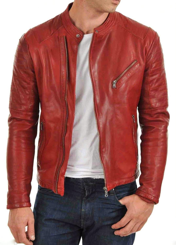 World of Leather Moto Style Genuine Lambskin Oiled Leather Jacket Biker Motorcycle