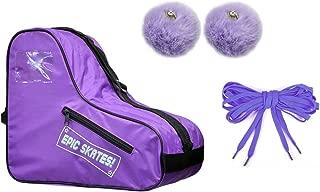 Epic Purple Roller Skate Accessory 3 Pc. Bundle w/Bag, Laces, Pompoms