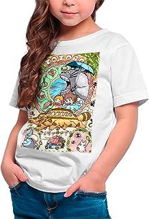 DibuNaif Camiseta Cine Animación Niña - Unisex Mi Vecino Totoro, Studio Ghibli
