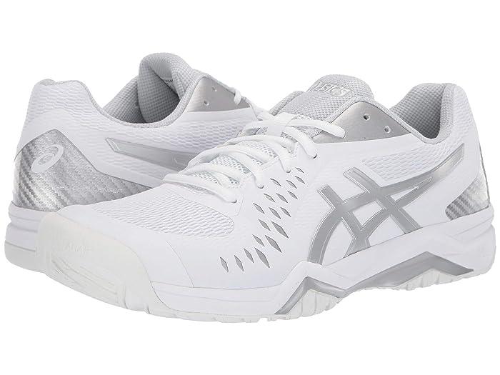 ASICS  Gel-Challenger 12 (White/Silver) Mens Tennis Shoes