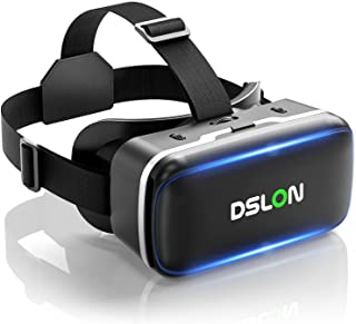 【DSLON VRゴーグル】VRヘッドセット VRヘッドマウントディスプレイ スマホ用 vrゴーグル PMMA非球面光学レンズ 1080PHD高画質 vrゴーグル 3Dメガネ 3D動画 VR動画 VRメガネ 超広角120° 焦点距離&瞳孔間距離...