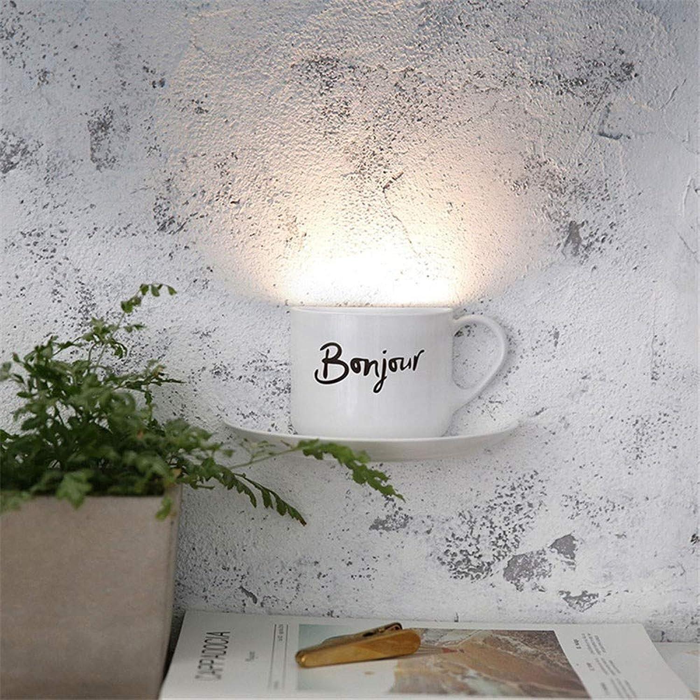 AFGD Nachtlichtled-Nachtlicht Kaffeetasse Home Dekoration Beleuchtung Usb Akku