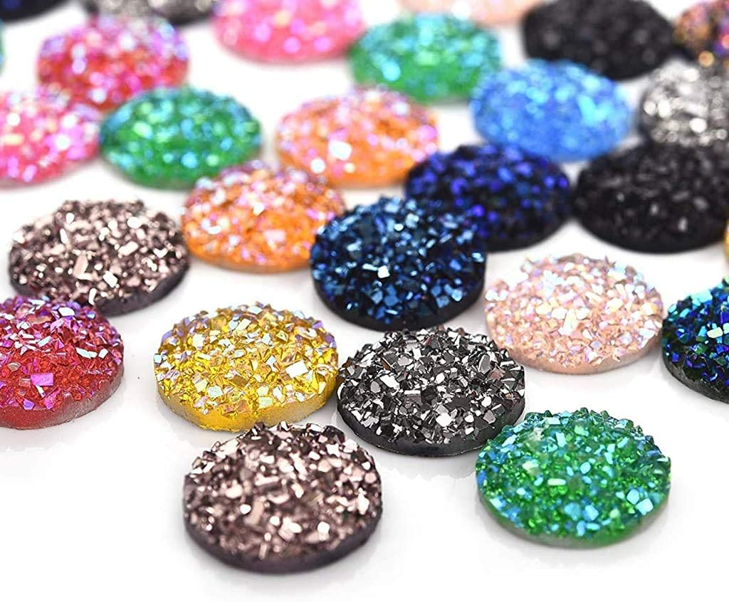 wholesale beads earring findings no hole jewelry making kit cute stones grey cabs cabochons supply 40 PCS 12 mm flakes cabochon