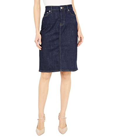 LAUREN Ralph Lauren Petite Denim Skirt (Rinse Wash) Women
