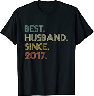 2nd Wedding Anniversary Gift Husband Since 2017 T-Shirt