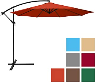 Charmant Best Choice Products 10ft Offset Hanging Market Patio Umbrella W/Easy Tilt  Adjustment, Polyester