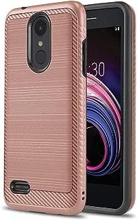 Phone Case for [LG Rebel 4 LTE (L212VL, L211BL)], [Modern Series][Rose Gold] Shockproof Cover [Impact Resistant][Defender] for Rebel 4 LTE (Tracfone, Simple Mobile, Straight Talk, Total Wireless)