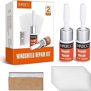 MATCC Auto Windschutzscheiben Reparaturset Werkzeug Glas Reparatur Set Windshield Repair Kit Windscreen Repair Resin für PKW Crack und Chip