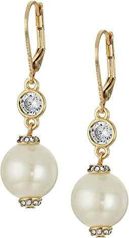 Kate Spade New York - Pearls of Wisdom Leverback Earrings