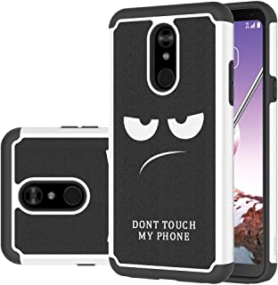 LG Stylo 5 Case, LEEGU [Shock Absorption] Dual Layer Heavy Duty Protective Silicone Plastic Cover Rugged Case for LG Stylo 5 - Don't Touch My Phone
