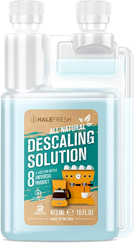 Descaling Solution Coffee Maker Cleaner Simple All Natural 8 Uses Per Bottle Universal For Keurig Ninja Nespresso Gagia Mr Coffee And Drip Coffee And Espresso Machines
