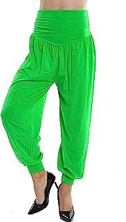 Lakkar Haveli Indian Women's Trouser Pant Casual Beach Wear Baggie Solid Green Color Pajama Plus Size