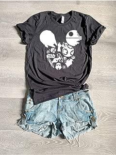 X Large/Black/Star Wars Mickey/Disney Love T Shirt/Cool T Shirt/Disney Trip T Shirt/Unisex Fit From Bella Canvas/Crew-Neck Shirt/Free Shipping/