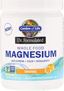 Garden of Life, Dr. Formulated, Whole Food Magnesium Powder, Orange, 7 oz (197.4 g)
