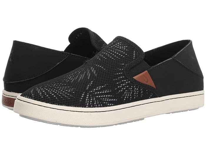 Pehuea  Shoes (Black/Palm) Women's Slip on  Shoes