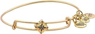 Alex and Ani Women's Compass Symbol Bead Charm Bangle, Rafaelian Gold