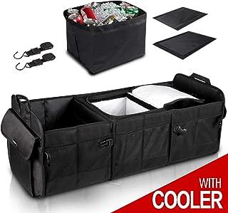 GEEDAR Trunk Organizer with Cooler Large Trunk Organizer with Built-in Leak-Proof Cooler Bag for SUV Toyota Hyundai Mazda KIA Subaru Accessories