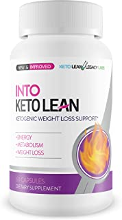 Into Keto Lean - Ketogenic Weight Loss Support - Burn More Fat - Keto Weight Loss - Improve Energy & Ketogenic Metabolism - Into Keto Lean Pills for Best Keto Diet Support - Keto Pills 4 Fat Burning