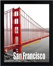 Frametory, 11X14 Pre-Assembled Black Poster Frame - Golden Gate Bridge Gallery Edition