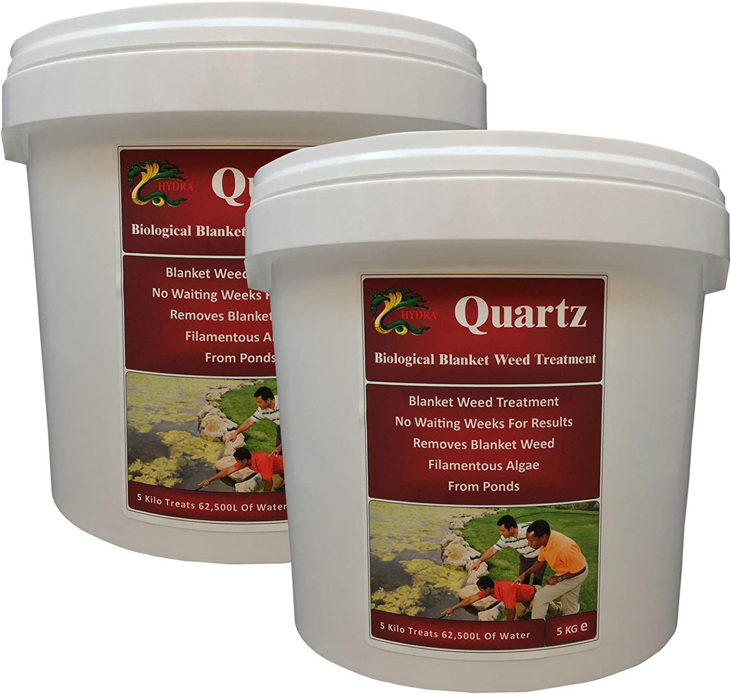 HYDRA 100% Biological Blanketweed Treatment QUARTZ 2x5Kg Treats Up To 62,500L