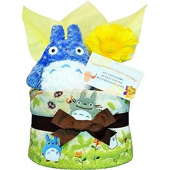 おむつケーキ [ 男の子 : 女の子/となりのトトロ : ジブリ / 1段 ] パンパース S12枚 (出産祝い に Sサイズ)1501 ダイパーケーキ 赤ちゃん ベビーシャワー ギフト 誕生日プレゼント