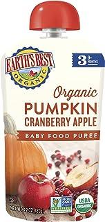 Earth's Best 阶段3,南瓜,蔓越莓和苹果,4.2 盎司(12 件装)(包装可能有所不同)