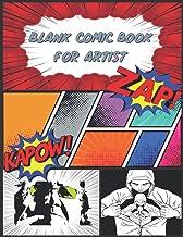 Blank Comic Book For Artist: Blank Comic Notebook