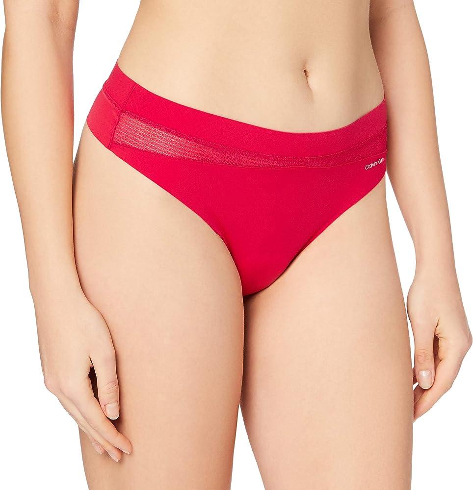Calvin klein thong lingerie,mutandine,slip per donna,70% poliammide, 30% elastan 000QF6047E