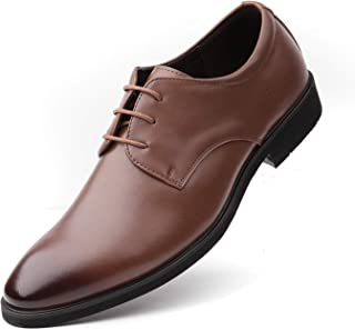 [RIBONGZ] ビジネスシューズ メンズ シークレット 革靴 カジュアル紳士靴ストレートチップ 外羽根 抗菌