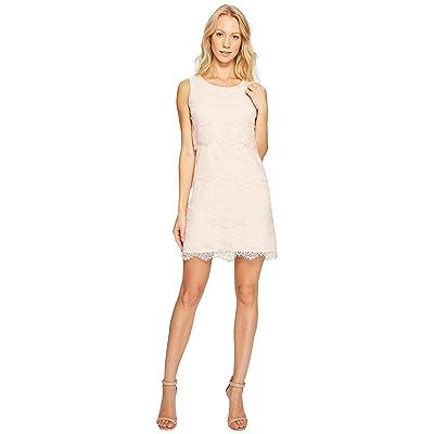 Jessica Simpson Tiered Lace Dress JS4R4533 (Blush) Women