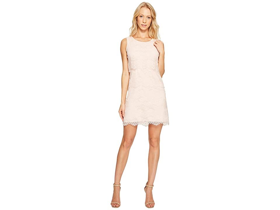 Jessica Simpson Tiered Lace Dress JS4R4533 (Blush) Women
