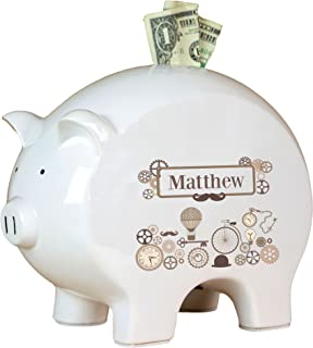 Personalized Steampunk Piggy Bank