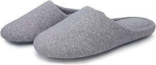 شباشب قطنية قابلة للتنفس من SOLOSMART للنساء من القطن الناعم المريح لغرفة النوم من الفوم المتكيف