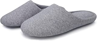 SOLOSMART Women's Indoor Slippers,Breathable Cotton Cozy Memory Foam Insole,Anti-Slip Home Shoes