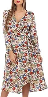 dbe1266748e La Modeuse - Robe longue style portefeuille à imprimé fleuri