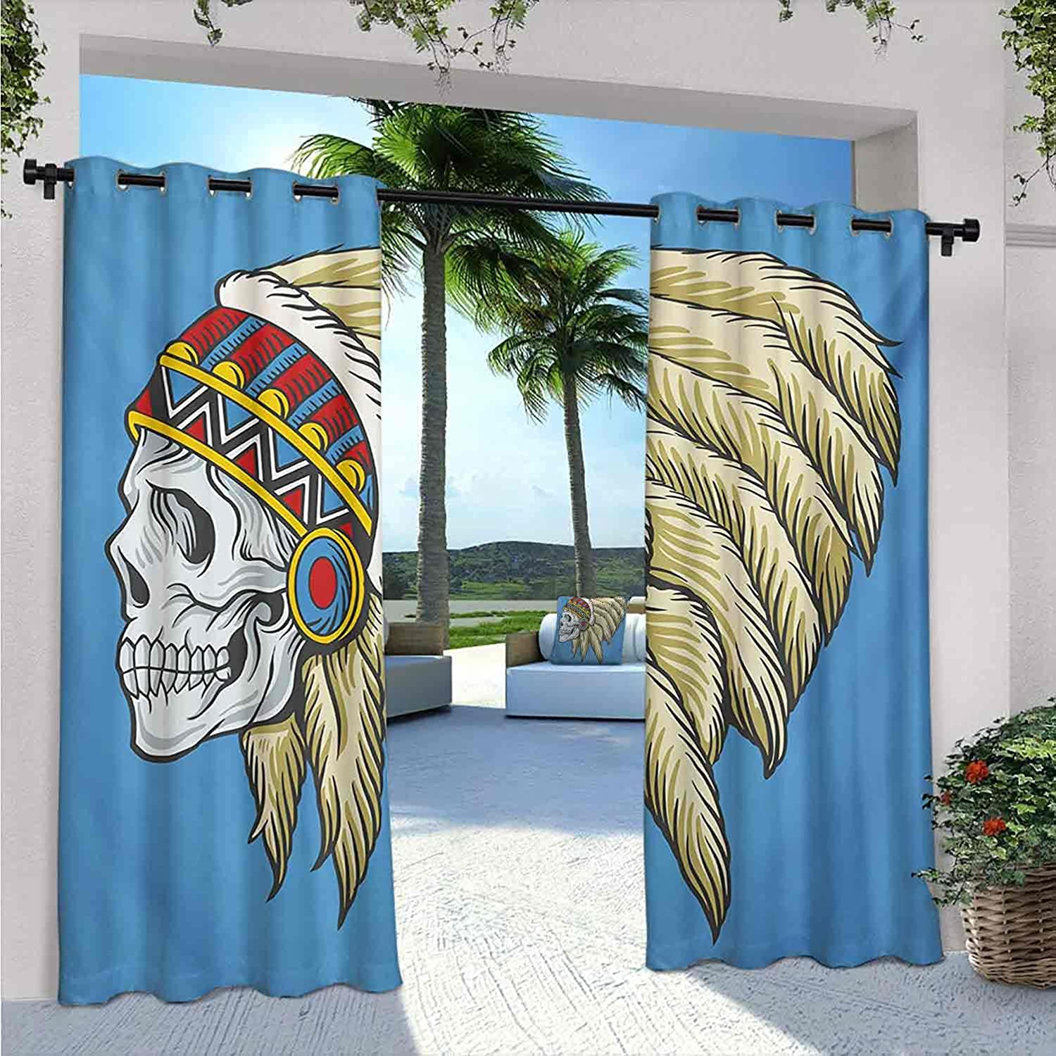 TribaOutdoor Curtains for Patio American Sales sale Inventory cleanup selling sale Dead Waterproof Native