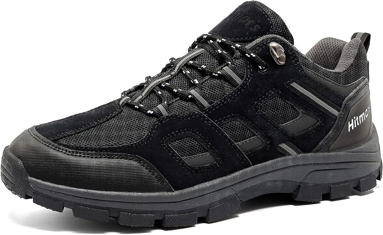 Zapatillas de Senderismo Hombre Bajas Zapatos TrekkingAntideslizantes Botas Sportiva MontañaExterior Transpirable Negro Azul Marrón 39-47 EU