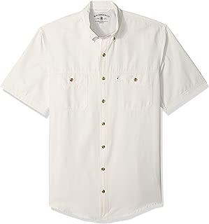 G.H. Bass & Co. Men's Big and Tall Explorer Short Sleeve Fishing Shirt Solid Button Pocket