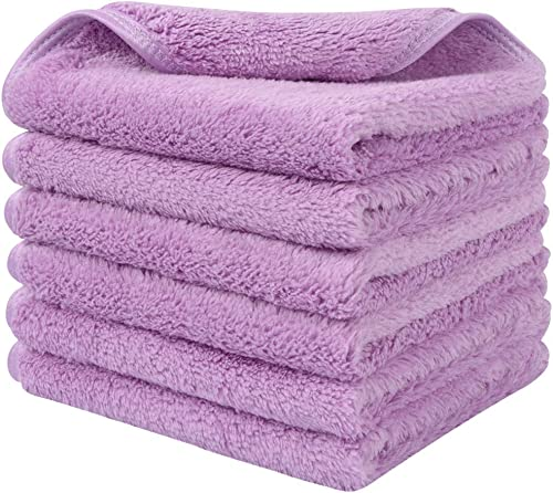 Sinland Microfiber Face Cloths For Bath Reusable Makeup Remover Cloth Ultra Soft and Absorbent Washcloths For Baby 12...
