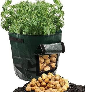 SDZWD Sembradora de Patatas, Bolsas de Cultivo, macetas para jardinería, Tina de jardín para hortalizas con Acceso por Solapa (Paquete de 2)