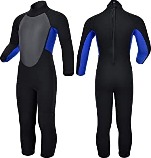 Realon Kids Wetsuit Shorty Boys Girls 3mm Neoprene One Piece Thermal Swimsuit 2mm Warm Full Long Sleeve Wet Suits Cover To...