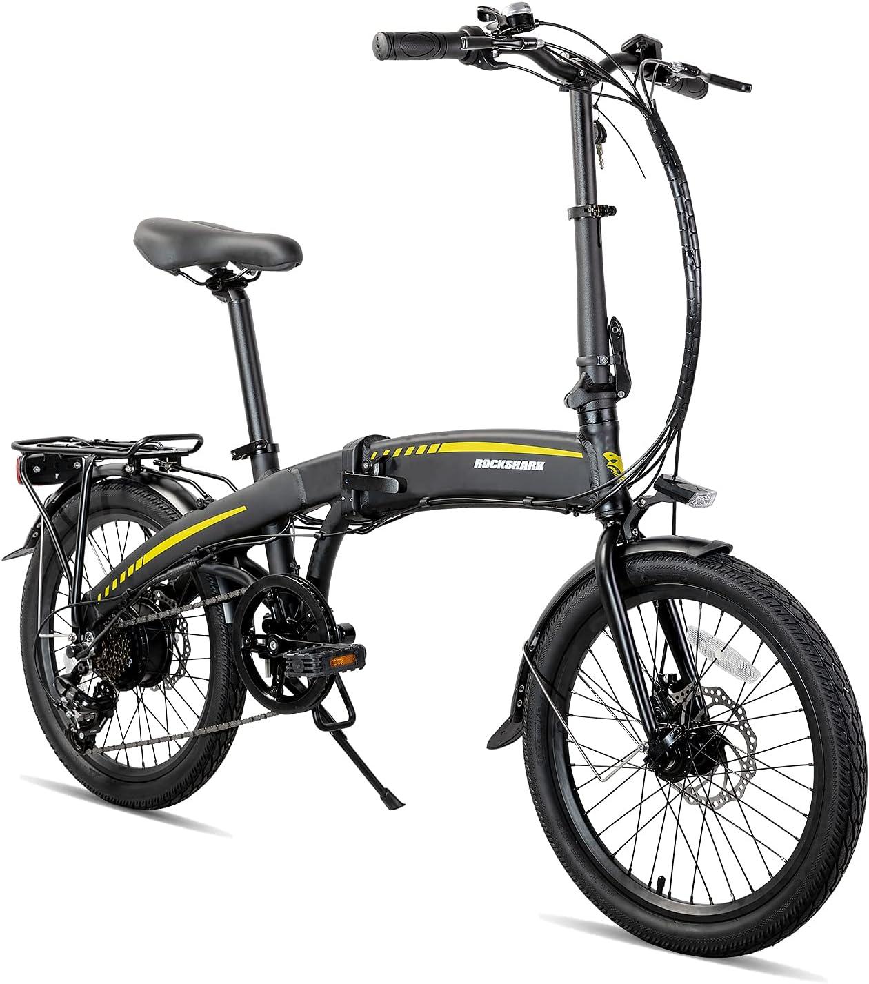 ROCKSHARK Electric Bike latest Aluminum inch Folding Direct stock discount 20 S