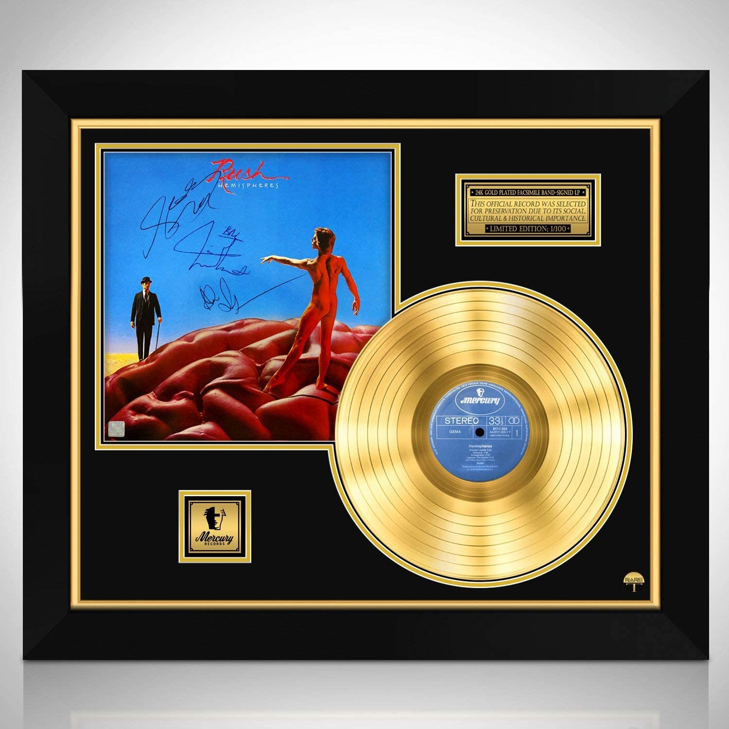 RARE-T Rush - Hemispheres Gold Limited Stud Signature High Cheap super special price quality LP Edition