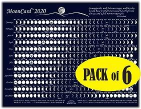 Celestial Products Moon Calendar 2020, Cards, MoonCard - 6 pk