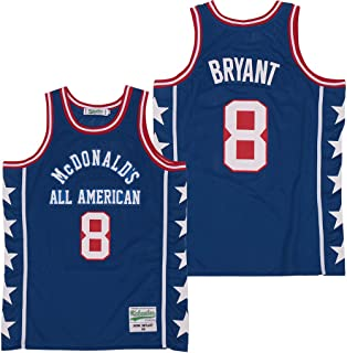 Men's McDonald's All American #8 Bryant Basketball Jersey Stitched S-3XL
