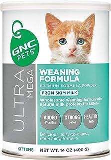 GNC Pets Ultra Mega Premium Milk Replacer Formula Powder for Puppies and Cats | Weaning Formula and Milk Replacer for Pets Supports Immunity and Growth