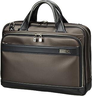 [バーマス]BERMAS EXCEED ビジネスバッグ ブリーフケース 2層 キャリーオン機能 豊岡鞄 日本製 ショルダーバッグ メンズ 60036 (ブラウン)